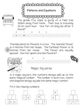 Patterns Pre-Algebra
