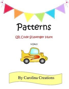Patterns QR Code Scavenger Hunt 4.OA.5