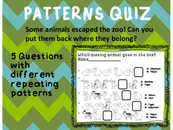 Patterns Quiz