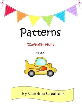 Patterns Scavenger Hunt 4.OA.5