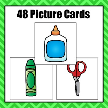 Patterns: School Supplies Pattern Cards