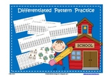 Patterns - School Themed (AB, ABB, ABC, ABBC, AAB, AABB)