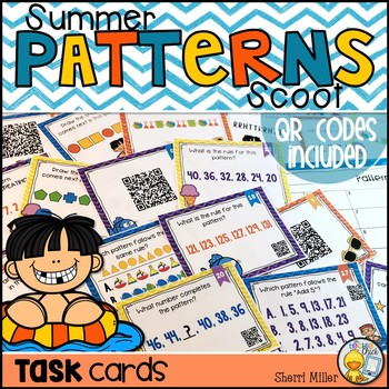 Patterns Scoot Task Cards - Summer Themed