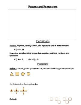 Patterns, Sequences, Properties of Real Numbers