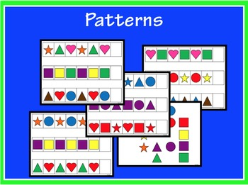 Patterns - Shapes and Colors - AB, ABC