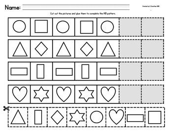 Patterns: Shapes (student & teacher sizes)