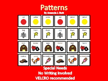 Patterns - Special Education; Pre-K; Kindergarten; Autism
