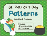 Patterns -St. Patrick's Day Pattern Activities and Printables