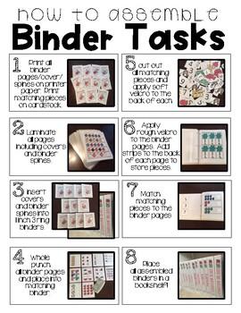 Patterns- T.E.A.C.C.H. Independent Binder Work System