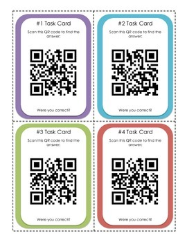 Patterns Task Cards and QR Codes