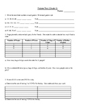 Patterns Test Grade 6