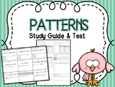 Patterns Test & Study Guide