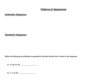 Patterns & The Fibonacci Sequence