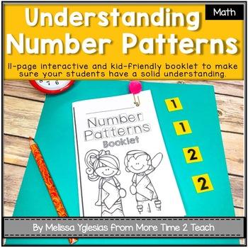 number patterns theme booklet mastering patterns by more time 2 teach rh teacherspayteachers com