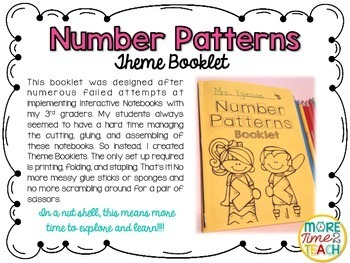 Number Patterns Theme Booklet {Mastering Patterns}
