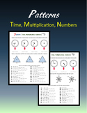 Patterns:  Time, Multiplication, Numbers