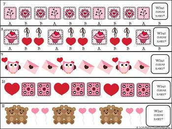 Patterns Unit-Valentine's Day Activities & Printables-black & white set included