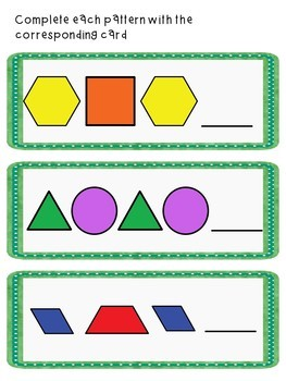 Patterns Unit and Worksheet Bundle for students with special needs