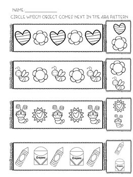 Patterns Unit and Worksheet Bundle for students w special needs