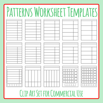 Patterns / What Comes Next Worksheet Templates Clip Art for Commercial Use