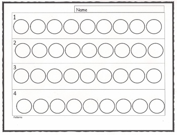 Patterns White Board Click and Drag w/Printable: Pre-K and K (3 pages)