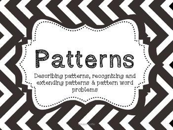 Patterns-Word Problems, etc. Common Core
