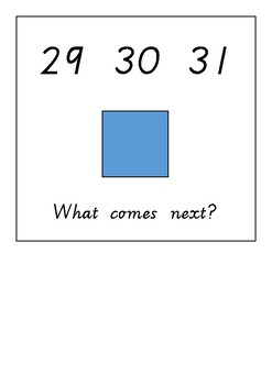 Number sequencing to 50 adapted book