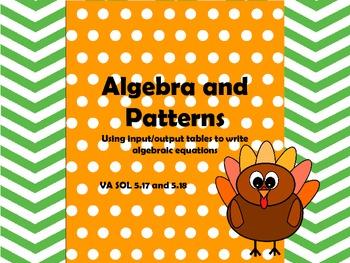 Patterns and Algebra