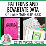 Patterns and Bivariate Data Mini Tabbed Flip Book for 8th
