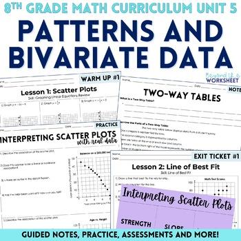 Patterns and Bivariate Data Unit