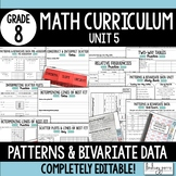 Patterns and Bivariate Data Unit