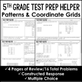 "Patterns and Coordinate Grids - ""No Prep"" Test Prep"