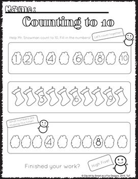 Patterns and Counting 1 to 10 Printables