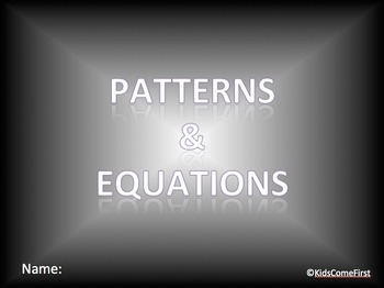 Patterns and Equations Digital Interactive Math Notebook