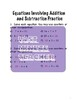 Patterns and Equations Student Workbook