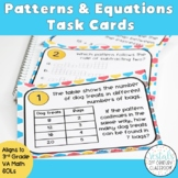 Patterns and Equations Task Cards (Math SOL 3.16 & 3.17) {Digital & PDF}