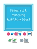 Patterns and Matching Busy Book Pages