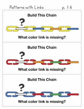 Patterns and Problem Solving with Plastic Links : 75 problems with answers