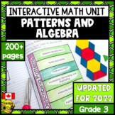 Patterns and Relations Interactive Notebook Grade 3