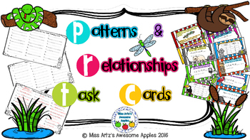 Math Patterns and Relationships Task Cards Grades 4-6
