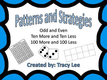 Guided Math Patterns and Strategies/ Odd and Even and More and Less