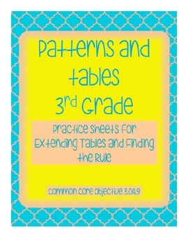 Patterns and Tables