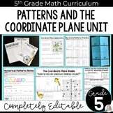 Patterns and The Coordinate Plane Unit