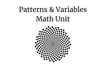 Patterns and Variables Unit