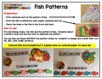 Patterns and counting activities (sea life theme)