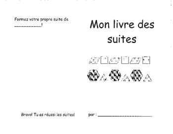 Patterns booklet FRENCH KINDERGARTEN