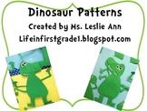 Patterns for Dinosaur Craft