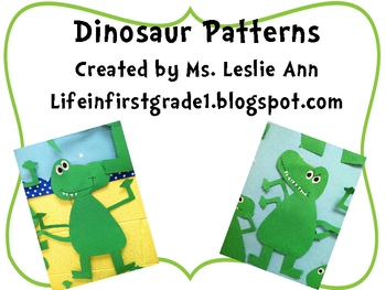 Patterns for Dinosaur Craft
