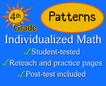 Patterns, fourth grade - Individualized Math - worksheets