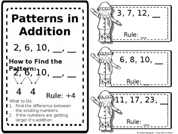 Arithmetic Patterns (Patterns in Addition and Subtraction) 3.OA.9